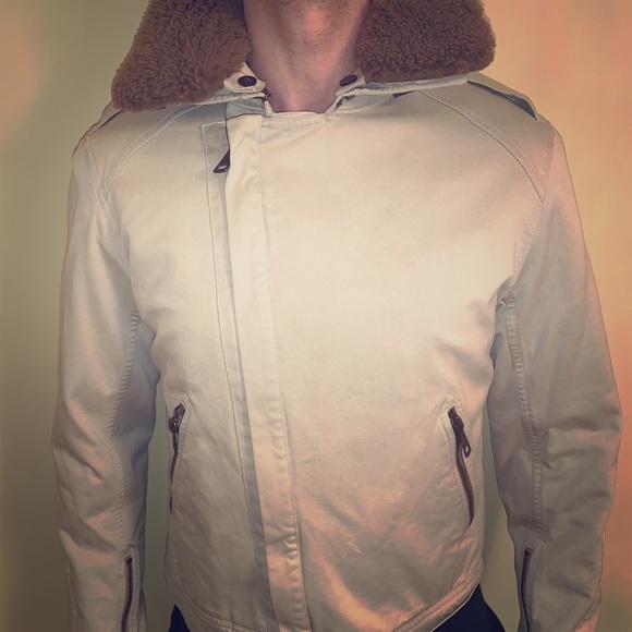 Burberry Jackets Coats Sale Mens Cottonshearling Bomber Jacket